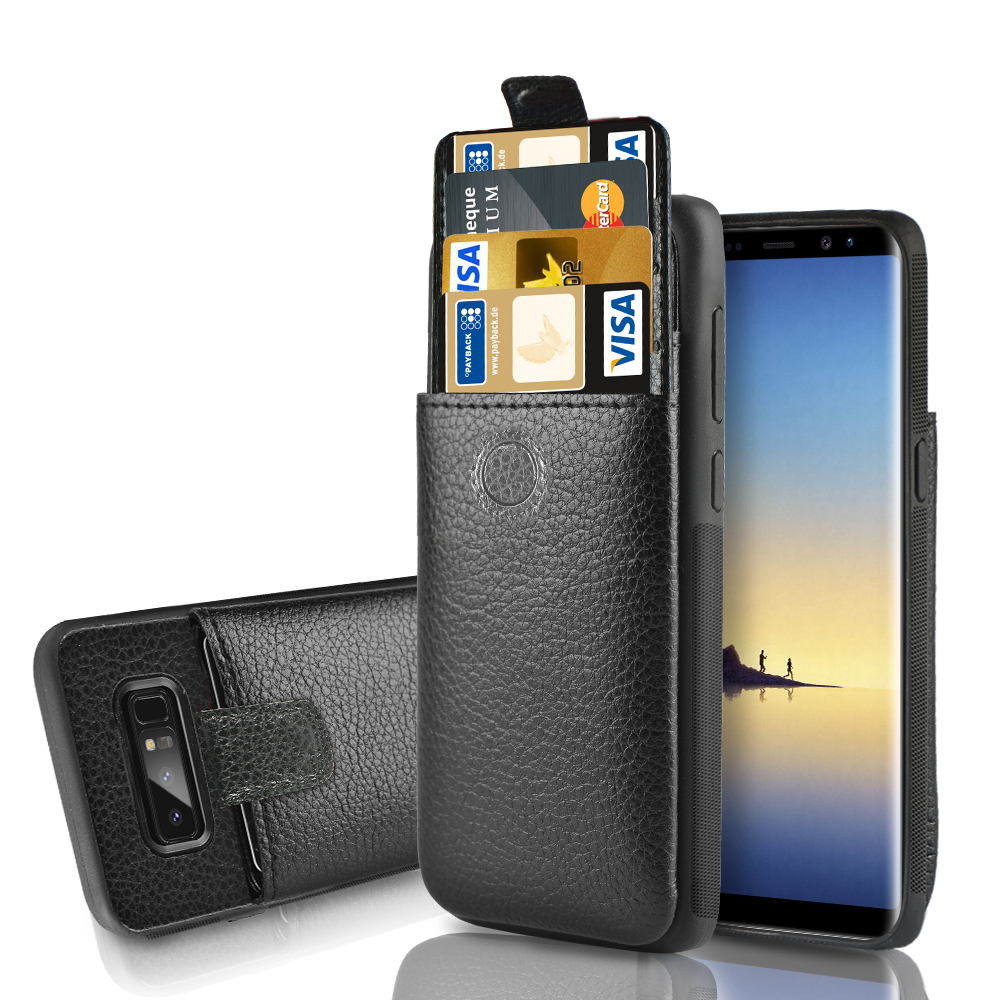 half off 97262 f5419 Samsung Note8 Wallet case, LAMEEKU Shockproof Protective Galaxy Note 8  Leather Case with Credit Card Holder Slot